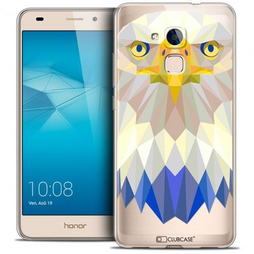 Coque Crystal Gel Huawei Honor 5C Extra Fine Polygon Animals - Aigle