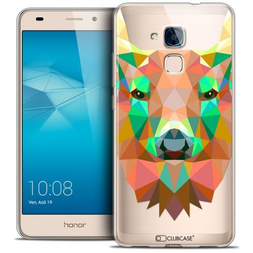 Coque Crystal Gel Huawei Honor 5C Extra Fine Polygon Animals - Cerf