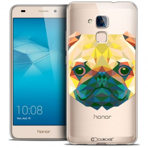 Coque Crystal Gel Huawei Honor 5C Extra Fine Polygon Animals - Chien