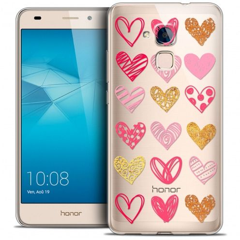 Coque Crystal Gel Huawei Honor 5C Extra Fine Sweetie - Doodling Hearts