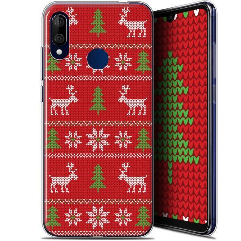 """Coque Gel Wiko View 3 LITE (6.09"""") Extra Fine Noël 2017 - Couture Rouge"""
