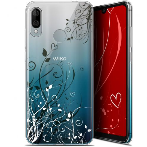 """Coque Gel Wiko View 3 LITE (6.09"""") Extra Fine Love - Hearts Flowers"""