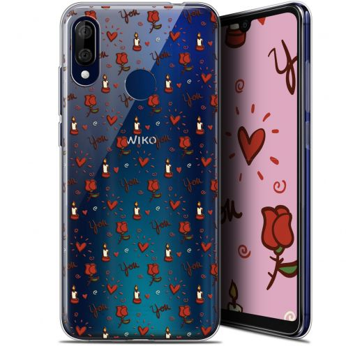 """Coque Gel Wiko View 3 LITE (6.09"""") Extra Fine Love - Bougies et Roses"""