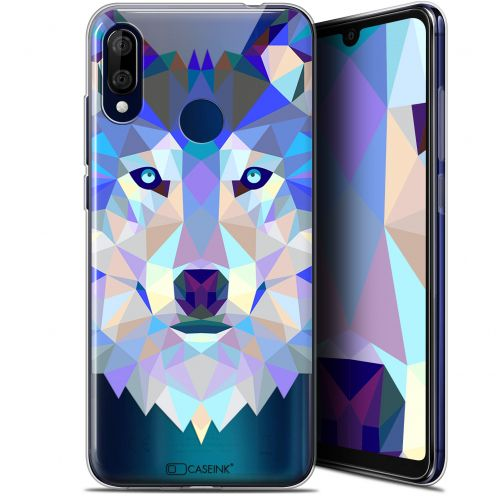 """Coque Gel Wiko View 3 LITE (6.09"""") Extra Fine Polygon Animals - Loup"""