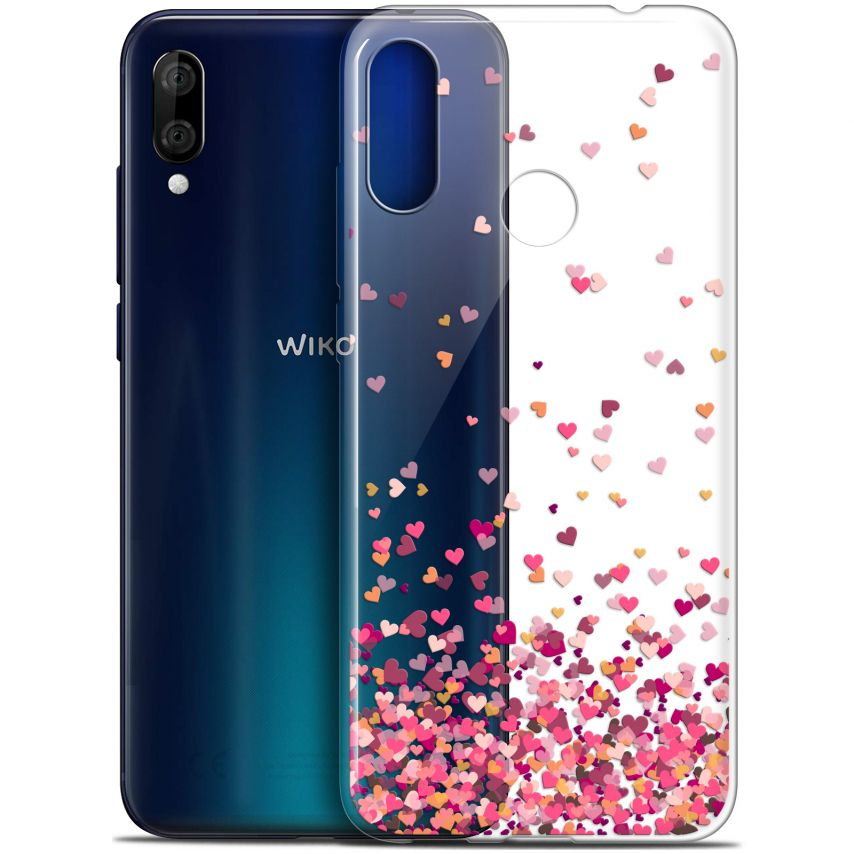 "Coque Gel Wiko View 3 LITE (6.09"") Extra Fine Sweetie - Heart Flakes"