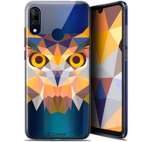 "Coque Gel Wiko View 3 LITE (6.09"") Extra Fine Polygon Animals - Hibou"