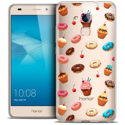 Coque Crystal Gel Huawei Honor 5C Extra Fine Foodie - Donuts