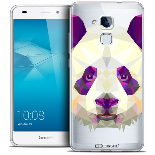 Coque Crystal Gel Huawei Honor 5C Extra Fine Polygon Animals - Panda