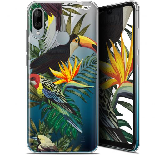 "Coque Gel Wiko View 3 LITE (6.09"") Extra Fine Motif - Toucan Tropical"