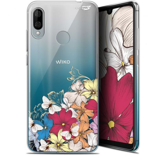 "Coque Gel Wiko View 3 LITE (6.09"") Extra Fine Motif - Nuage Floral"