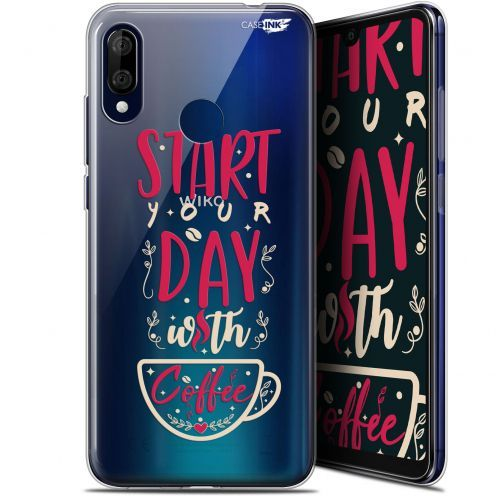 "Coque Gel Wiko View 3 LITE (6.09"") Extra Fine Motif - Start With Coffee"