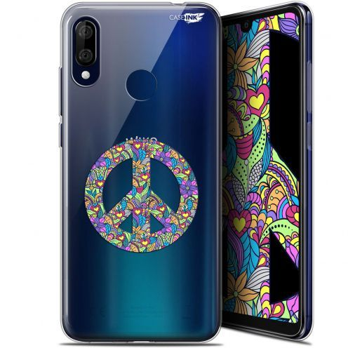 """Coque Gel Wiko View 3 LITE (6.09"""") Extra Fine Motif - Peace And Love"""