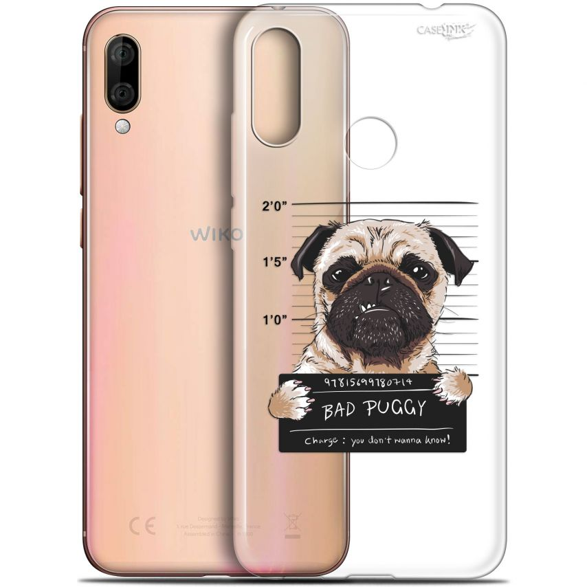 "Coque Gel Wiko View 3 LITE (6.09"") Extra Fine Motif - Beware The Puggy Dog"