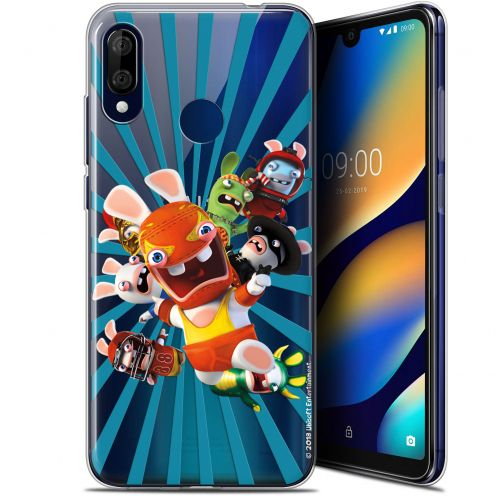 """Coque Gel Wiko View 3 LITE (6.09"""") Extra Fine Lapins Crétins™ - Super Heros"""