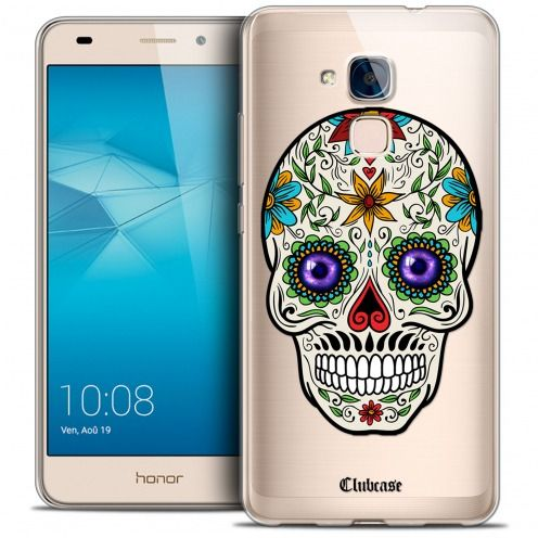 Coque Crystal Gel Huawei Honor 5C Extra Fine Skull - Maria's Flower