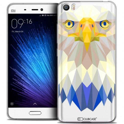 Coque Crystal Gel Xiaomi Mi 5 Extra Fine Polygon Animals - Aigle
