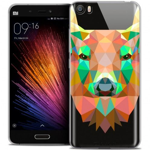 Coque Crystal Gel Xiaomi Mi 5 Extra Fine Polygon Animals - Cerf