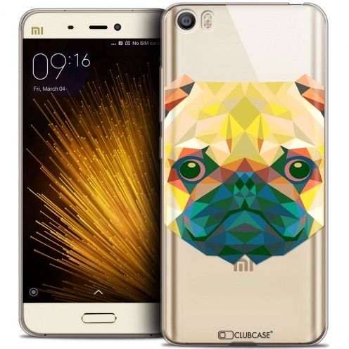 Coque Crystal Gel Xiaomi Mi 5 Extra Fine Polygon Animals - Chien