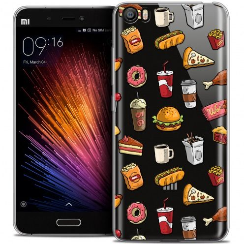 Coque Crystal Gel Xiaomi Mi 5 Extra Fine Foodie - Fast Food