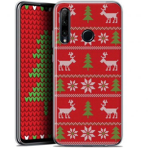"""Coque Gel Huawei Honor 20 LITE (6.2"""") Extra Fine Noël 2017 - Couture Rouge"""