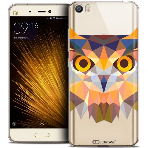 Coque Crystal Gel Xiaomi Mi 5 Extra Fine Polygon Animals - Hibou