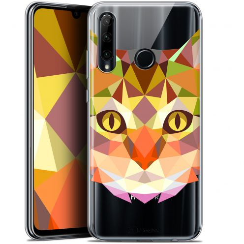 """Coque Gel Huawei Honor 20 LITE (6.2"""") Extra Fine Polygon Animals - Chat"""