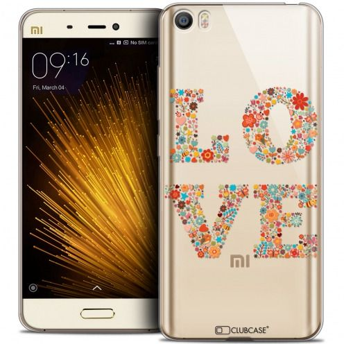 Coque Crystal Gel Xiaomi Mi 5 Extra Fine Summer - Love Flowers