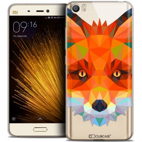 Coque Crystal Gel Xiaomi Mi 5 Extra Fine Polygon Animals - Renard