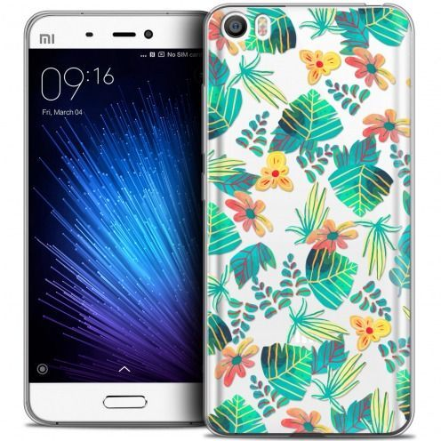 Coque Crystal Gel Xiaomi Mi 5 Extra Fine Spring - Tropical