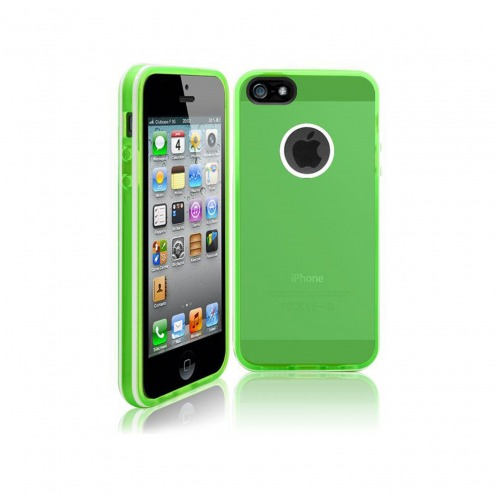 Coque iPhone 5S / 5 White Stripes Verte
