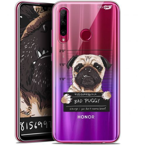 "Coque Gel Huawei Honor 20 LITE (6.2"") Extra Fine Motif - Beware The Puggy Dog"