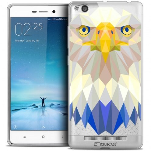 Coque Crystal Gel Xiaomi Redmi 3 Extra Fine Polygon Animals - Aigle