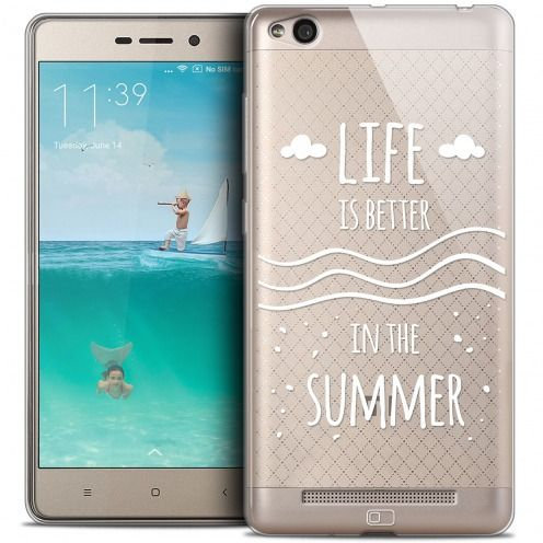 Coque Crystal Gel Xiaomi Redmi 3 Extra Fine Summer - Life's Better