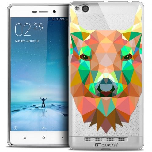 Coque Crystal Gel Xiaomi Redmi 3 Extra Fine Polygon Animals - Cerf