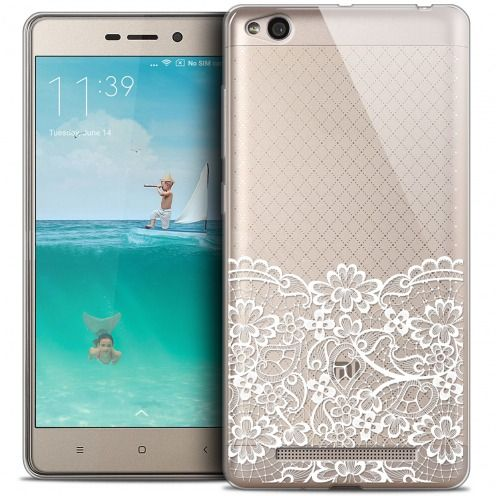 Coque Crystal Gel Xiaomi Redmi 3 Extra Fine Spring - Bas dentelle