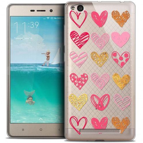 Coque Crystal Gel Xiaomi Redmi 3 Extra Fine Sweetie - Doodling Hearts