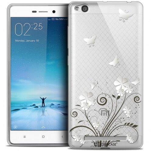 Coque Crystal Gel Xiaomi Redmi 3 Extra Fine Summer - Papillons