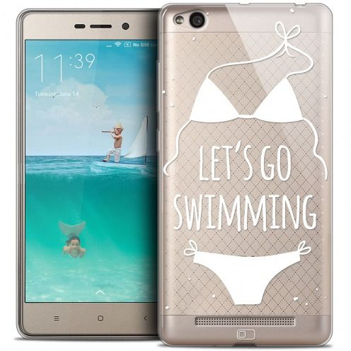 Coque Crystal Gel Xiaomi Redmi 3 Extra Fine Summer - Let's Go Swim