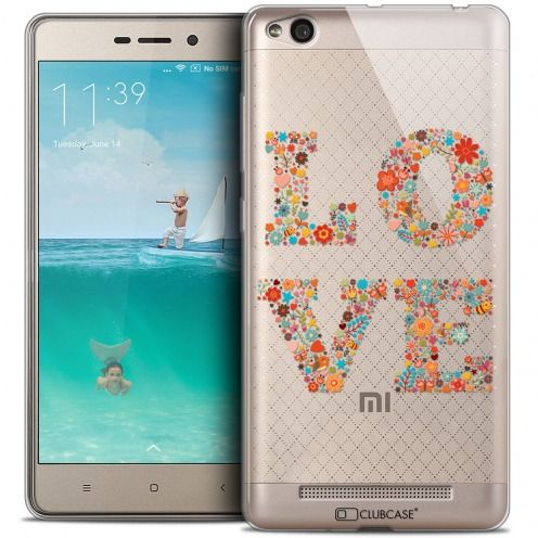 Coque Crystal Gel Xiaomi Redmi 3 Extra Fine Summer - Love Flowers