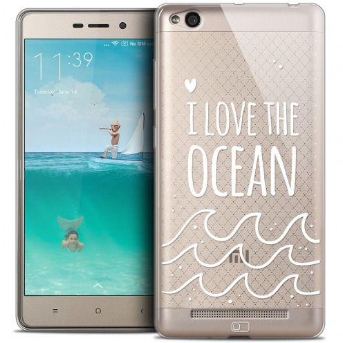 Coque Crystal Gel Xiaomi Redmi 3 Extra Fine Summer - I Love Ocean