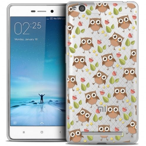 Coque Crystal Gel Xiaomi Redmi 3 Extra Fine Summer - Hibou