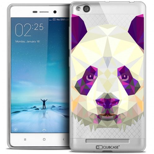 Coque Crystal Gel Xiaomi Redmi 3 Extra Fine Polygon Animals - Panda