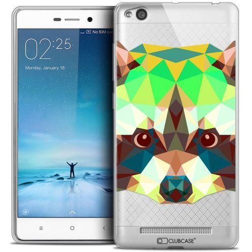 Coque Crystal Gel Xiaomi Redmi 3 Extra Fine Polygon Animals - Raton Laveur