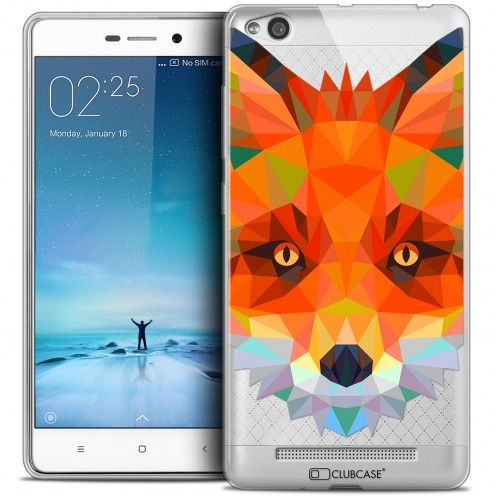 Coque Crystal Gel Xiaomi Redmi 3 Extra Fine Polygon Animals - Renard