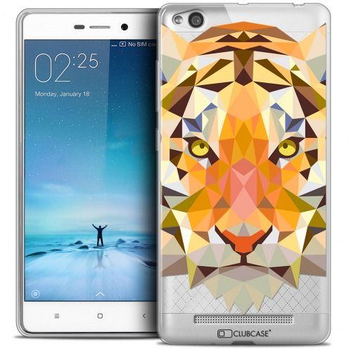 Coque Crystal Gel Xiaomi Redmi 3 Extra Fine Polygon Animals - Tigre