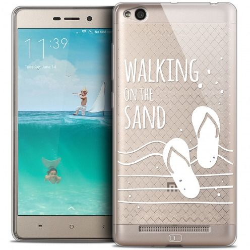 Coque Crystal Gel Xiaomi Redmi 3 Extra Fine Summer - Walking on the Sand