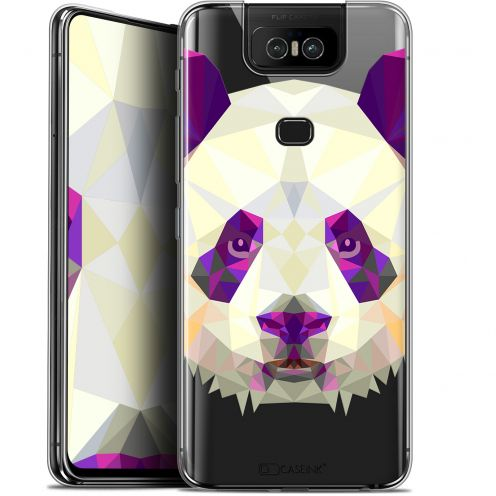 "Coque Gel Asus Zenfone 6 ZS630KL (6.4"") Extra Fine Polygon Animals - Panda"