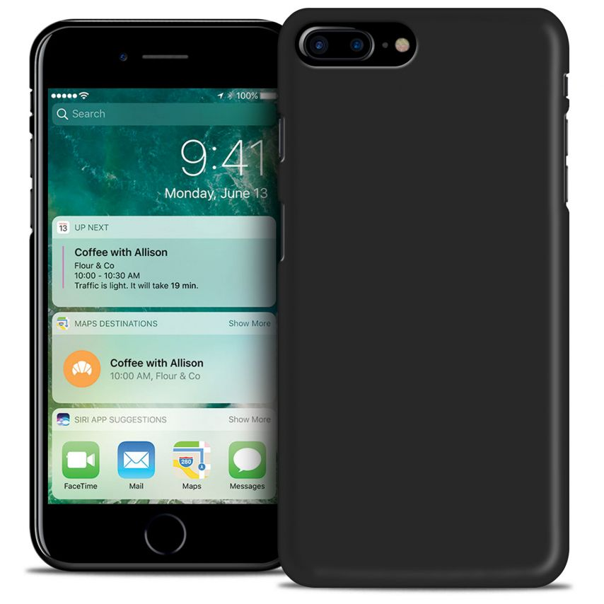 "Coque iPhone 7 Plus 5.5"" Frozen Ice Extra Fine Noir opaque"