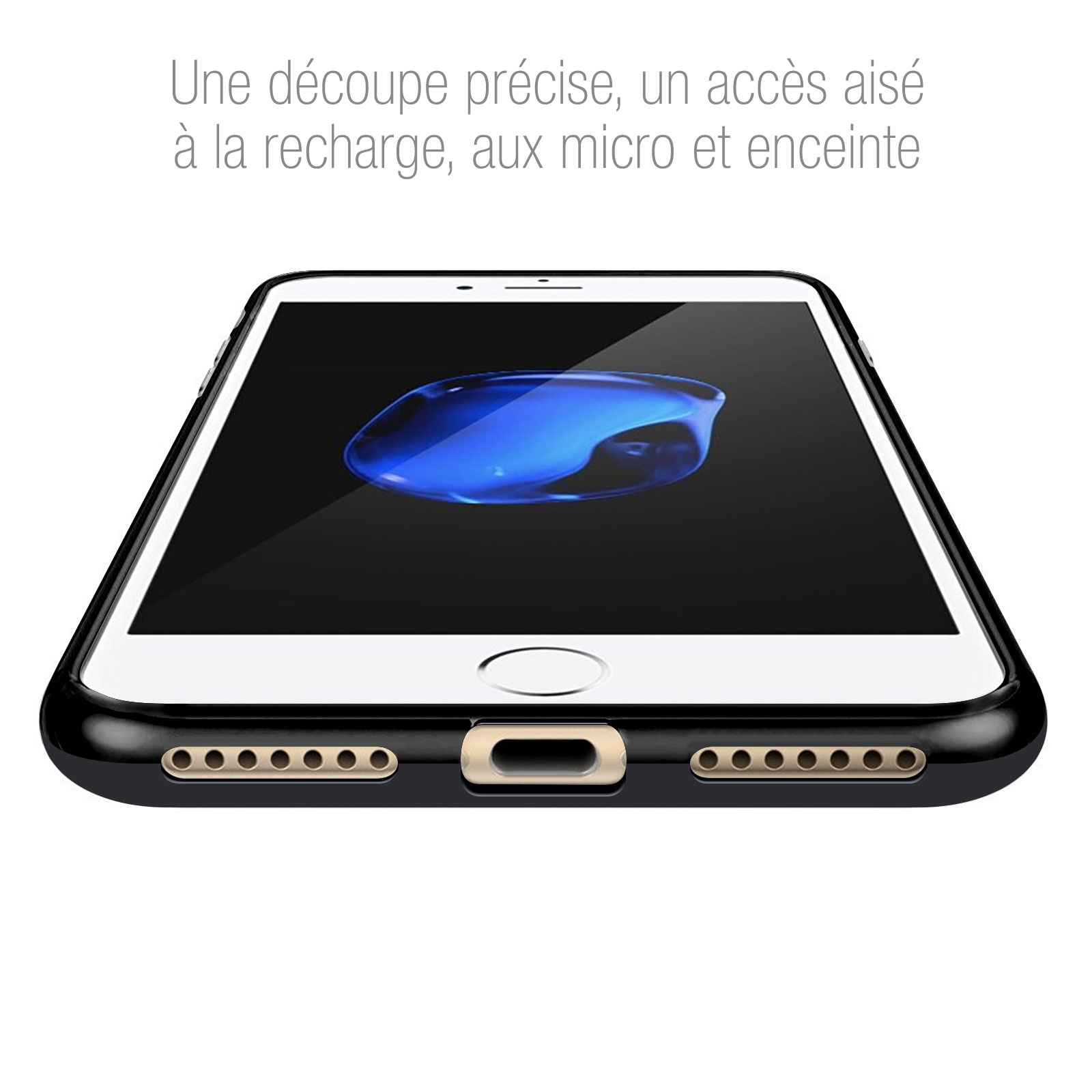 Coque iPhone 7/8 Plus Frozen Ice Extra Fine Noir opaque