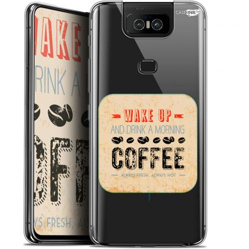 """Coque Gel Asus Zenfone 6 ZS630KL (6.4"""") Extra Fine Motif - Wake Up With Coffee"""